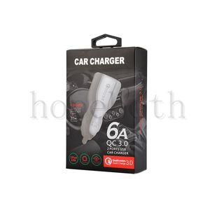QC 3.0 تهمة سريع شاحن الهاتف شاحن الإضافية 3.1a الشحن السريع المزدوج سيارة USB مع حزمة