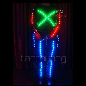 TC-80 LED iluminação colorida Full color robô LED trajes de festa disco de discoteca ballroom programa de design dança luminosa luz pano desempenho