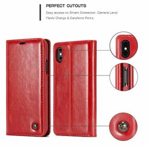 Cubierta CaseMe carpeta del cuero genuino para Iphone 11 X PRO XS MAX XR 8 7 6 Plus 6S Samsung Galaxy Note 10 S6 S7 EDGE soporte magnético de la piel