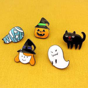 Nueva serie de Halloween Fantasma de dibujos animados Insignia Cabeza de calabaza Accesorios de aleación Joyería para hombre Mujer Broches Pasadores Hebilla Venta al por mayor Envío de la gota