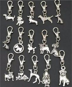 Pendentif clé de haute qualité Antique d'argent en alliage de zinc chien mixte Porte-clés Clés de bricolage Sac de voiture à main Accessoires Bijoux A88