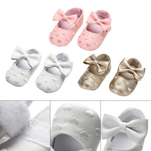 New Baby Infant Toddler Bambini Ragazze Bowknot Prewalker antiscivolo Soft Sole Shoes Firstwalkers Butterfly-knot Baby Shoes