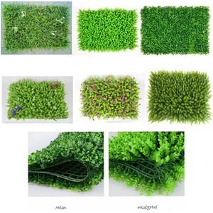 Plastica Prato artificiale Prato della pianta verde parete coperta Balcone decorazioni falso tappeto erboso erba artificiale staccionata Tatuaggi 40x60cm