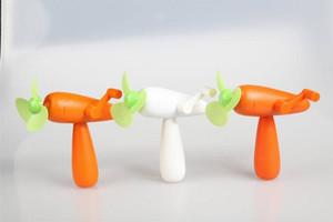 Verano regalo rábano Ventiladores de presión de mano de dibujos animados para niños ventiladores portátiles Estudiante de mano del mini del ventilador fresco 288pcs Impreso Personalizar