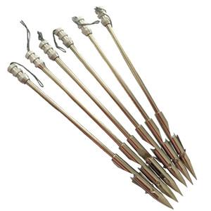 6 PK 6,3 pouces en acier inoxydable arc de pêche Arrow Heads catapulte flèche Broadheads Slingshot flèche arbre