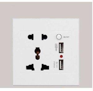 Universal 2100mA 5V 2 USB Wall Socket AC 110-250V US UK EU AU Home Wall Charger 2 Ports USB Outlet Power Charger 110-250V
