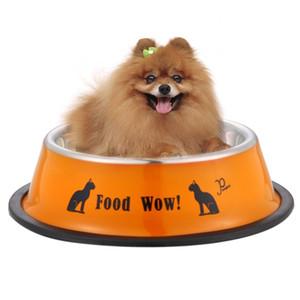 Ciotola per alimenti per animali domestici in acciaio inox Anti-skid Pet Dog Cat Food Ciotola per l'acqua Alimentazione Ciotole per animali Pet's Supplies Dia 11cm