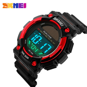 SKMEI Outdoor Solar Power Sports Watches Men Waterproof Male Clock Casual Men's Wristwatches Digital Watch Wholesale Reloj Hombre 1126