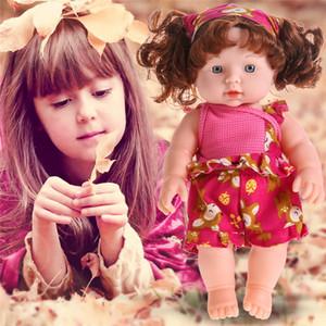 30 см Reborn Doll Baby Soft Vinyl Silicone LifeLike Newborn Baby Dolls Говоря игрушка для детей День рождения Рождественский подарок
