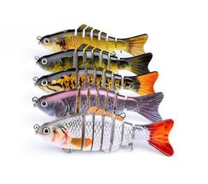 12 سنتيمتر 15 جرام المتذبذب الصيد إغراء البحر بايك الأسماك إغراء swimbait crankbait isca الطعم الاصطناعي مع هوك الصيد معالجة pesca الطعم الثابت 7 قطاعات