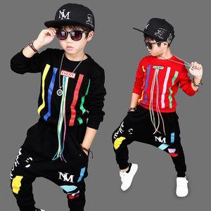 Abbigliamento per bambini Ragazzi Sports Sets Hip Hop Felpa Pantaloni 2 pezzi Suit Abiti di Natale Autunno Bambino manica lunga casa Abbigliamento HH7-1749