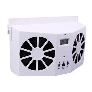 Energy Saving Solar Car Interior Auto Air Vent Arrefecer Melhorar Cooler Fan de ventilação Sistema de ar que flui Inner Refrigerador