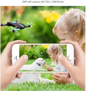 مصغرة طوي selfie drone إلفي جيب drone مع كاميرا wifi rc مروحية التحكم عن لعبة مقابل jjrc H37 Jy018 523 quadcopter