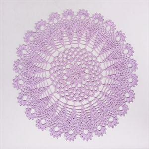 Purple Crochet Doily, Lace Round Doily, Cotton Dreamcatcher Doily, Crochet Centerpiece and Placemat, Lace Tablecloth, Table Topper 13 inches