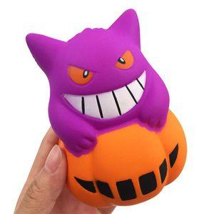 Nuevo demonio PU Simulación 12 cm Calabaza helado Squishy Slow Rising Halloween Squeeze juguetes Descompresión Niños Juguete de dibujos animados juguetes de la novedad