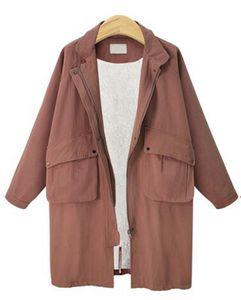 La Sra. Han edición de la nueva personalidad de la época de la moda boutique de ropa en lana de cordero larga chaqueta acolchada de algodón XL - 4 XL