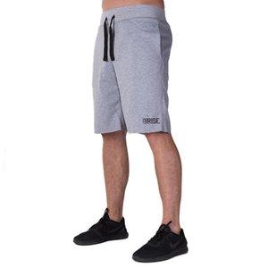 Musculares irmãos aptidão RISE treinamento running lazer dos esportes dos homens cinco minutos calças curtas respirável malha calções confortáveis