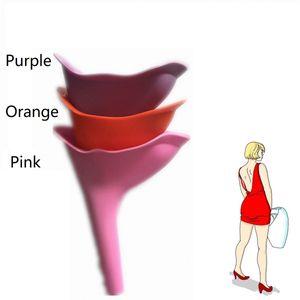 Urina do sexo feminino urinar dispositivo senhora urina silicone funil mulheres Ao Ar Livre Levantando-se Pee Mictórios reutilizáveis portátil camping viagens higiênico