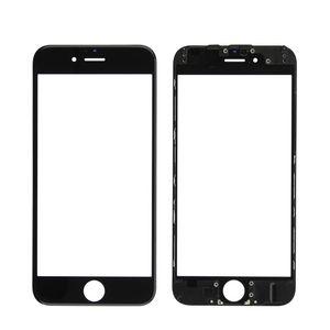 Migliore qualità per iPhone 5 5S 6 6S Plus 7 8 Plus Pannello frontale touch screen Lente in vetro esterno + Cornice per pressa a freddo + OCA installato