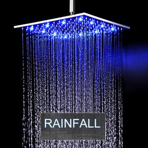 천장 암으로 혁신적인 욕실 레인 샤워 헤드 LED RGB 라이트 / 304 스테인레스 스틸 강수량 목욕 패널 / 샤워기