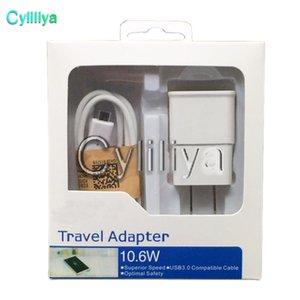 Быстрая зарядка 2 в 1 ЕС США Plug 5 В 2A адаптер Главная путешествия стены зарядное устройство комплекты USB кабель 2.0 кабель синхронизации данных для Galaxy S4 S5 S6 S7 Andriod