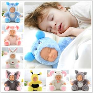 Peluche ripiene Giocattoli Baby Doll Toy neonato Bambini Accompagnare Sleep Cute PVC viso peluche bambola animale ragazza regalo di compleanno per i bambini