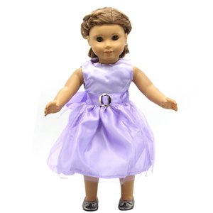 doll dress for 18 inch american girl lilac flower on dark purple homemade 298