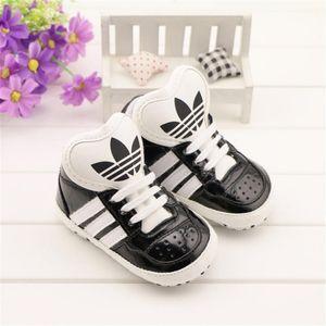 Printemps et automne Chaussures de bébé en cuir Nouveau-né Garçons Filles À lacets Sports First Walker Shoes Chaussures Prewalker pour bébés
