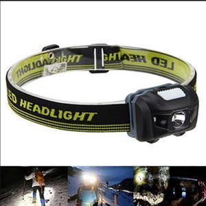 600LM Portátil Mini LED Infravermelho Ray Lanterna Faróis À Prova D 'Água 4 Modos R3 + 2 LED Farol para Camping