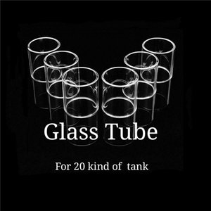 TFV12 TFV8 X Big Baby Glass Tube Cover Piezas de repuesto para fumar Big Baby Vape Pen 22 Plus 2ml 3.5ml Tubo de vidrio DHL GRATIS