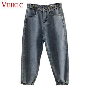 Vintage Haren Wide-Leg Jeans Women Hong Kong Flavor Spring Autumn 2018 New Chic BF Wind Loose Nine Pants Casual Tide X273