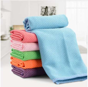 OnnPnnQ Kitchen Cleaning Cloth Vetro Window Dishcloth Car Wash Striscia multifunzione assorbente di lavaggio Ciotola asciugamano