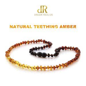 Clássico 10 cores originais Âmbar Colar dentição para o bebê Lab Testado Authentic Natural âmbar pedra colares para Jóias bebê