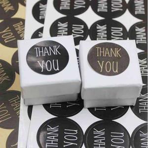 DIy noir merci joint autocollant étiquettes jolie varous bijoux fait main paquet étiquettes décoration étiquette étiquettes100pcs