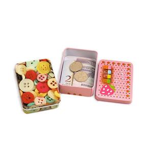 Cartoon Eisen Aufbewahrungsbox Korea nette Retro Mini Blechdose Schmuck Geschenkkarte kleine Eisenkasten