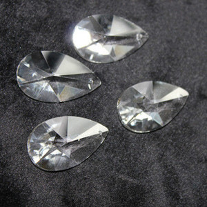 20 pcs Limpar K9 Crystal Glass Pear Forma Prisma Peças Da Lâmpada Do Candelabro Prismas Pendurado Suncatcher Drops Pingente