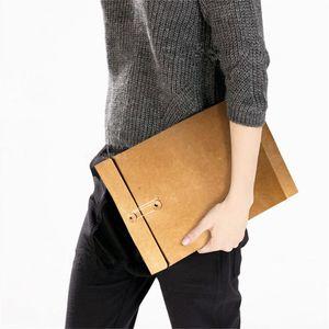 sacchetto di carta regalo di file kraft con sigillo formato A4 sacchetto di imballaggio regalo del documento sacchetto Kraft 37 * 29 * 5 cm