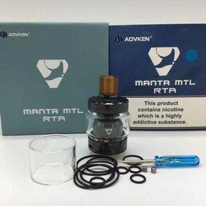Nice Newest MANTA MTL RTA Clone сменные форсунки бака Single Coil Vaporizer 2ml/3ml с 510 капельным наконечником Fit MODS высокое качество горячей продажи