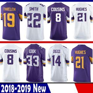 8 Kirk Cousins Jersey Minnesota 19 Adam THIELEN Viking 14 Stefon Diggs 22 Harrison Smith 33 Cozinhe 84 Patterson 55 Barr 29 Rhodes Hughes