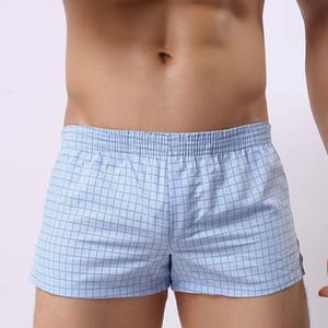 الرجال الملابس الداخلية الملاكمين القطن منقوشة السراويل سراويل الرجال كبيرة قصيرة تنفس السراويل المرنة الملاكم أوم مثير herterhosen