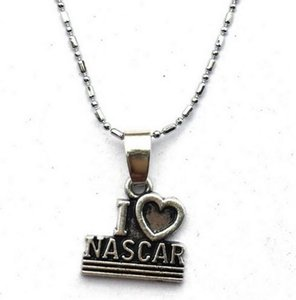 10pc / lot 2 Style I Heart Love Nascar Racing / CheckeredRacing Flag Lariat Collana-Motocross Auto Racing Olimpiadi Gare automobilistiche vendita drop new hot