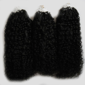 Afro Kinky Curly Hair micro loop human hair extensions 300g 1g s 300s Natural Micro Link Hair Extensions Human