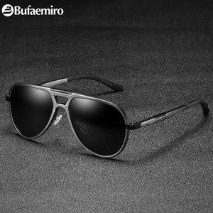 Bufarmiro 2018 новая мода пилот стиль солнцезащитные очки мужчины и женщины с рамой сплава и UV400 поляризованные линзы Россия SW71123