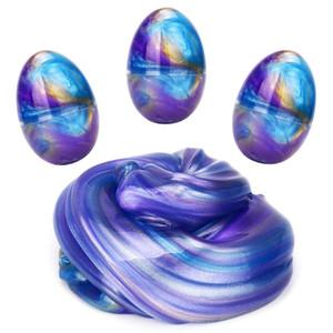Fluffy Slime - Galaxy Ei Slime Bunte Kinder Kitt Schlamm Ungiftiger Keine Borax DIY Stress Relief Spielzeug Kinder Erwachsene