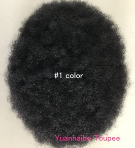 Front Lace Men Toupee Afro Curl Toupee para Basketbass Players y Basketball Fans Malaysian Virgin Hair Replacement Full Lace para Hombres Peluca
