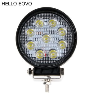 HELLO EOVO 10pcs 4 Inch 27W LED Work Light for Indicators Motorcycle Driving Offroad Boat Car Tractor Truck 4x4 SUV ATV Flood