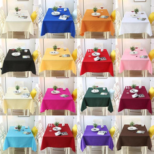Colores puros Wedding Table Cloths Rectángulo de fibra de poliéster Tables Cover para Banquet Party Decoration Supplies de calidad superior 18ll3 BB