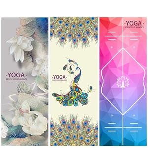 Les serviettes de yoga classiques élargissent les couvertures d'impression pour les adultes Exercices de Pilates Tapis de fitness Sac de rangement libre de nouveau style 39lm Ww