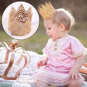 Элегантный Младенец Головной убор Новорожденные Мини Войлок Блеск Золотая Корона ободки для девочки аксессуары для волос Crown Hairband Hairwear