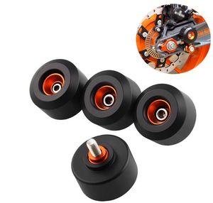 Front&Rear Fork Wheels Frame Slider Crash Protectors For motorcycle KTM RC390 200 Duke